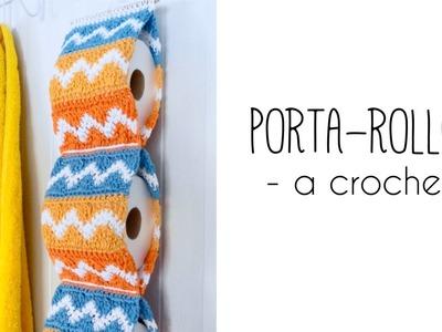 Como tejer un PORTAROLLOS para el baño a crochet | TUTORIAL PASO A PASO · Ahuyama Crochet