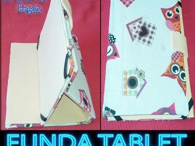 DIY Como hacer una funda para la tablet con tela y carton