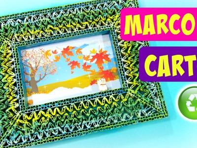 DIY Marcos para fotos de cartón. Cardboard picture frame