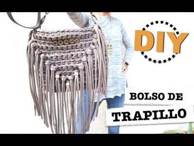 DIY | TUTORIAL COMO HACER UN BOLSO DE TRAPILLO CON FLECOS!