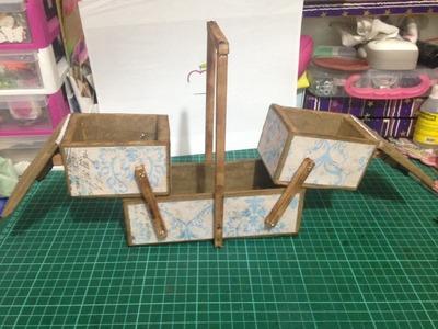 Organizador desplegable de carton reciclado. mueble fácil DIY