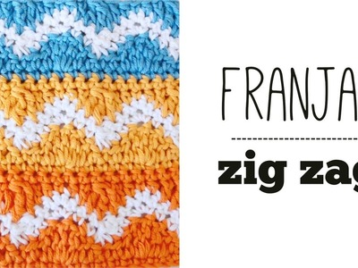 PUNTO ZIG ZAG en franjas de colores a CROCHET | TUTORIAL PASO A PASO · Ahuyama Crochet