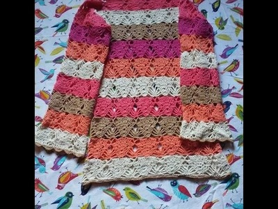 Túnica a crochet tutorial parte 3 de 3