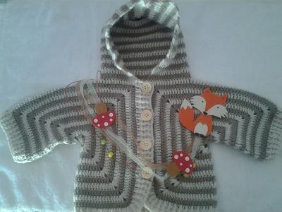 Abrigo bebe a crochet muy facil 2ª parte