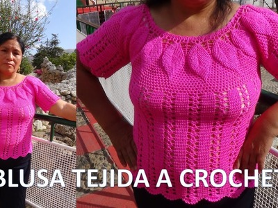BLUSA de Hojas Tejida a crochet PARTE 1 de 2