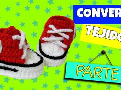 Converse tejidos a crochet VARIAS TALLAS | parte 1.2
