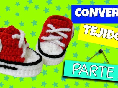 Converse tejidos a crochet VARIAS TALLAS | parte 2.2