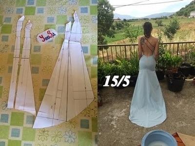 CROCHET IRLANDES- Vestido de novia Tutorial 15.5 Modificaciones Patron trasero y Falda Trasera