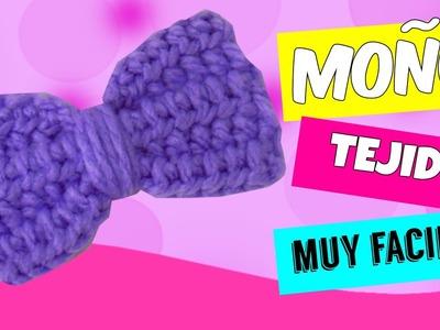 Moño tejido a Crochet MUY FACIL