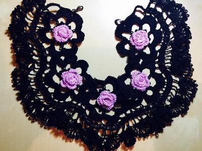 Tutorial Collar-Gargantilla Tejido a Crochet Paso a paso Necklace Crochet Handmade