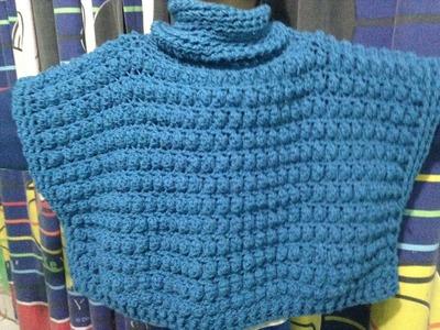 Chaleco tipo Poncho a Crochet.todas las tallas