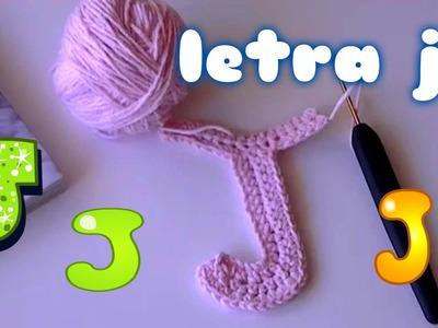 Como hacer la letra j en ganchillo o crochet