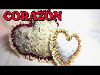 """Como hacer Un Cojín Corazón -""""How to make a heart shaped pillow"""""""
