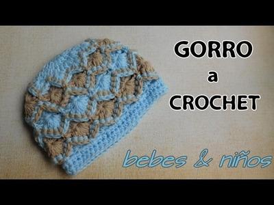 Como tejer gorro para niños y bebes a crochet