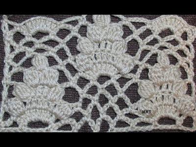 Crochet: paso a paso PUNTO RACIMO TEJIDO CON PIÑAS - Mi Rincón del Tejido