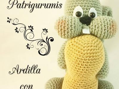 DIY Ardilla con cacahuete amigurumi en ganchillo - Crochet