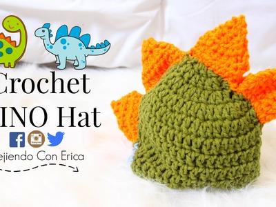 Gorrito de DINOSAURIO Crochet Tutorial | Tejiendo Con Erica