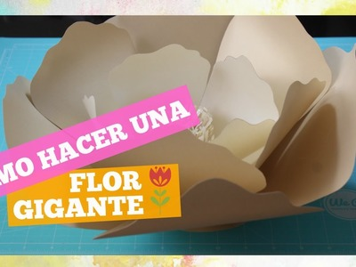 Como hacer flores de papel gigantes DIY