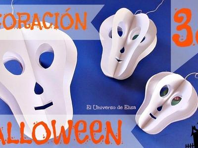 Decoración para Halloween.Día de los Muertos, Calavera 3D, Paper Skull, Halloween Decoration