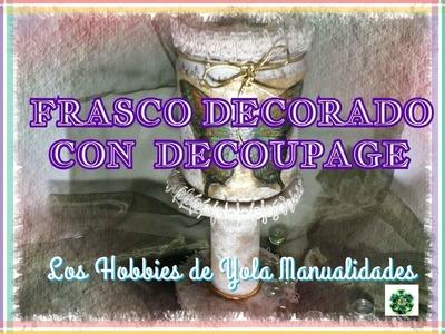 DIY Como decorar frascos con decoupage (2.3) Los Hobbies de Yola