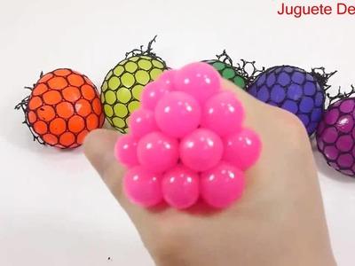 DIY cómo hacer 'Orbeez colores mágicos que crecen las bolas de agua' aprenden colores limo arcilla