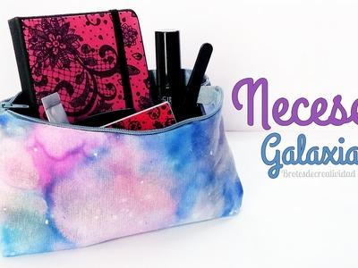 DIY : Neceser.estuche de estampado galaxia hecho con rotuladores sin coser - Brotes de Creatividad