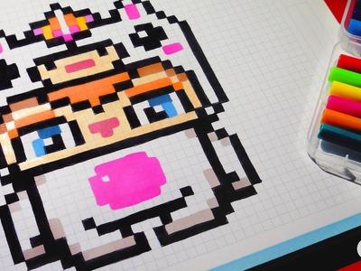 Handmade Pixel Art - Unicorn Boy - How To Draw Kawaii by Garbi KW #pixelart
