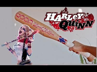 BATE casero Harley Quinn, DIY BAT Suicide Squad, DISFRAZ HALLOWEEN - BeagleArts ♥