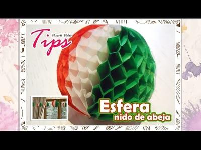 BOLA.ESFERA Nido de Abeja   Fiesta Mexicana   15 de Septiembre   DIY Esperas de papel