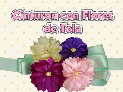 DIY Como hacer un Cinturon con Flores de Tela Paso a Paso para Embarazadas