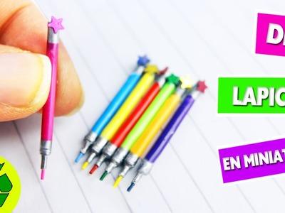 DIY| Lapices de colores que si funcionan - manualidades para muñecas - manualidadesconninos