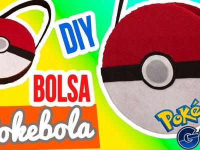 ¡Bolsa de Cartón y Tela de Pokebola! | DIY Bolsa Sin Coser ✄ | Manualidades Pokemon | Catwalk ❤