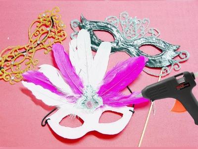 MANUALIDADES fáciles para HACER en CASA: ANTIFACES de SILICONA CALIENTE - BeagleArts ♥