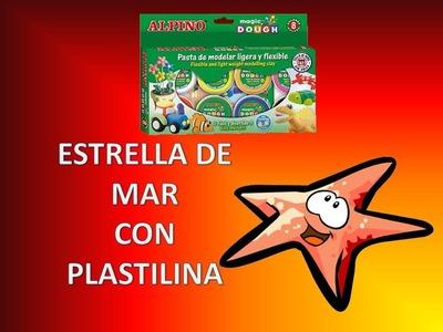 PASTA DE MOLDEAR .ESTRELLA DE MAR DE PLASTILINA.MANUALIDADES PARA NIÑOS.