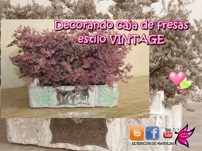 CAJA DE FRESAS DECORADA. MANUALIDADES FACILES CON MATERIAL RECICLABLE.