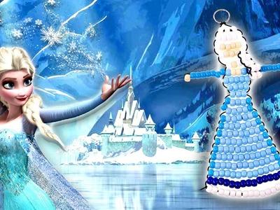 Como Hacer Un Llavero de Elsa con Bolitas (Beads) de Frozen ❅ Manualidades DIY Disney DCTC