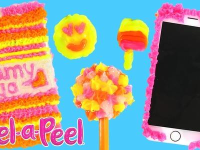 Gel-A-Peel Estacion de Diseño en 3D Kit de Manualidades con 4 Colores (Brazaletes, Dijes, Llaveros)