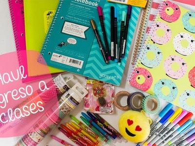 Haul de regreso a clases + compras de manualidades – washitapes, sharpies, emojis. BigCrafts