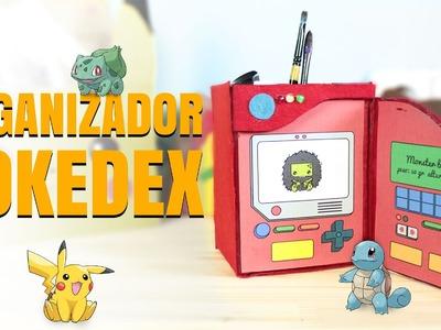 Manualidades con cartón: ORGANIZADOR DE ESCRITORIO POKEDEX Pokemon GO (regreso a clases)