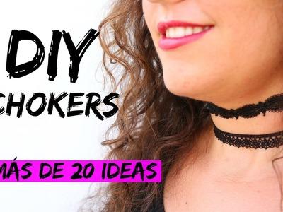 DIY Cómo hacer CHOKERS | ❤¡¡MÁS DE 20 DISEÑOS!!❤