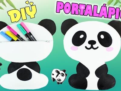 DIY- HAZ tu PORTALÁPICES de un OSO PANDA!! SIN COSER!! - Mery