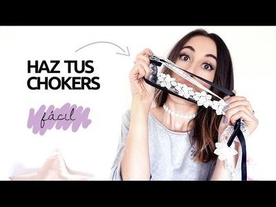 DIY: Haz tus chokers fácil + final inesperado | VioletaCostas