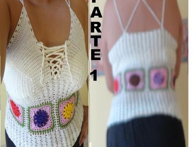 Blusa a crochet paso a paso parte 1