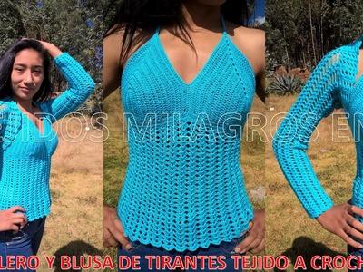 Blusa de Tirantes tejido a crochet para cualquier talla paso a paso - TEJIDOS MILAGROS ENA