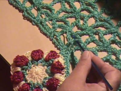 BLUSON CALADO tejido a crochet 3 de 4 (cuadros y armado)