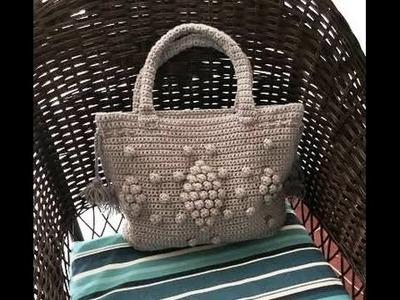 Bolso tejido a crochet muy lindo y facil