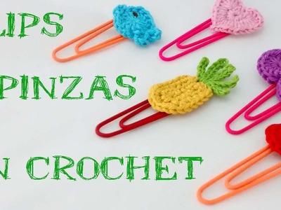Clips o pinzas en crochet. Clips or clamps crochet.