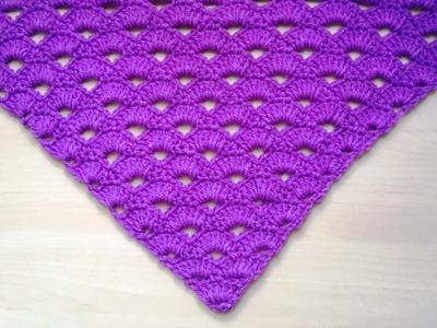 Hermoso chal tejido a crochet muy facil de tejer !!!