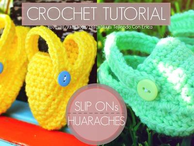 HUARACHITOS PARA EL VERANO Crochet Tutorial | Tejiendo Con Erica