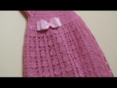 Vestido Rosa Elegante Crochet parte 2 de 3
